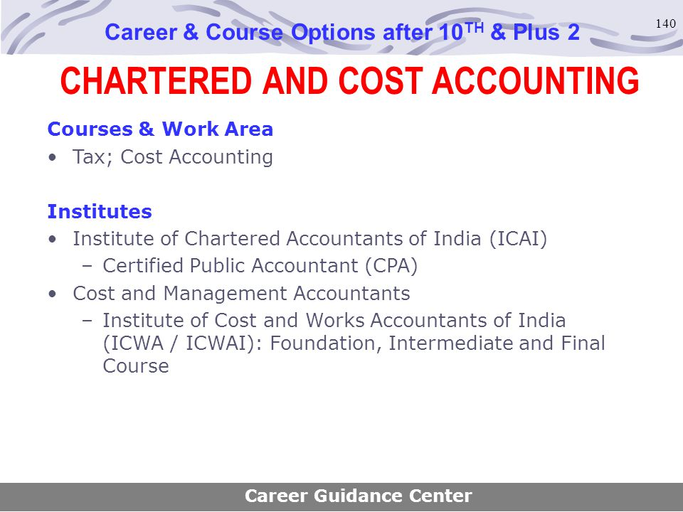 CHARTERED AND COST ACCOUNTING