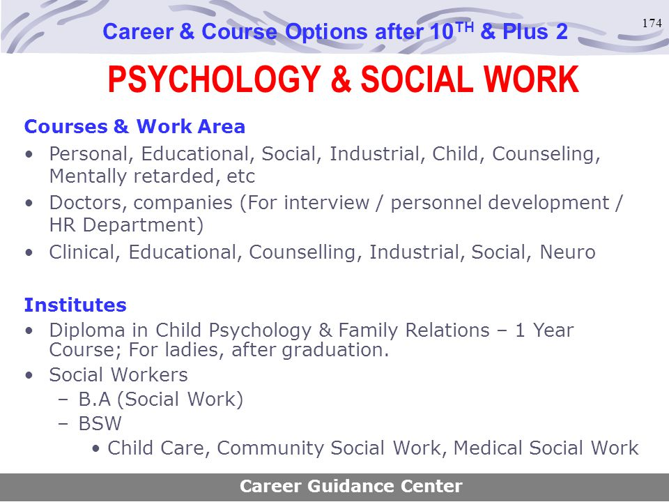 PSYCHOLOGY & SOCIAL WORK