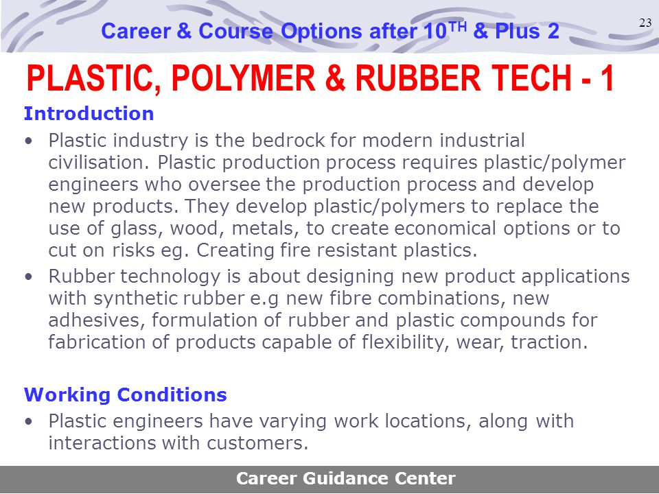 PLASTIC, POLYMER & RUBBER TECH - 1