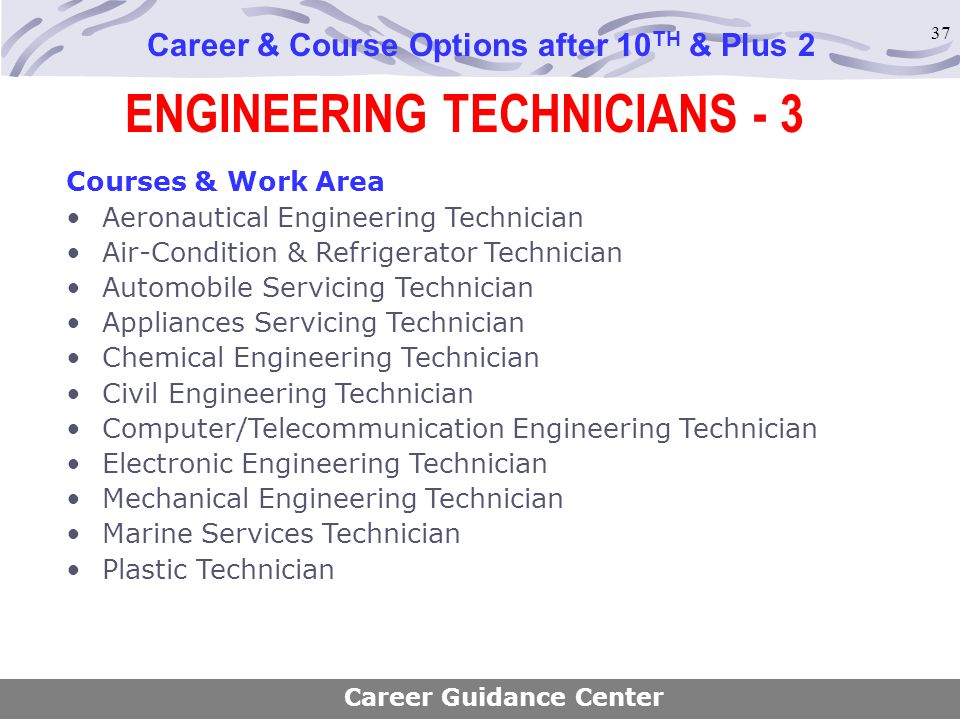 ENGINEERING TECHNICIANS - 3