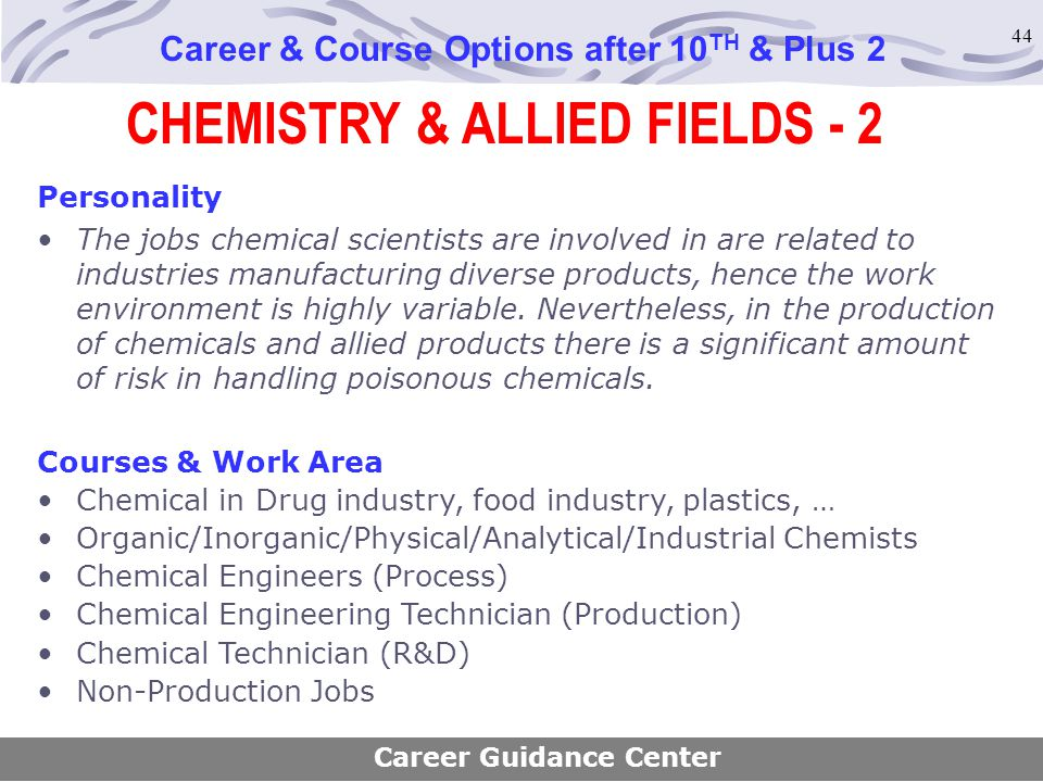 CHEMISTRY & ALLIED FIELDS - 2
