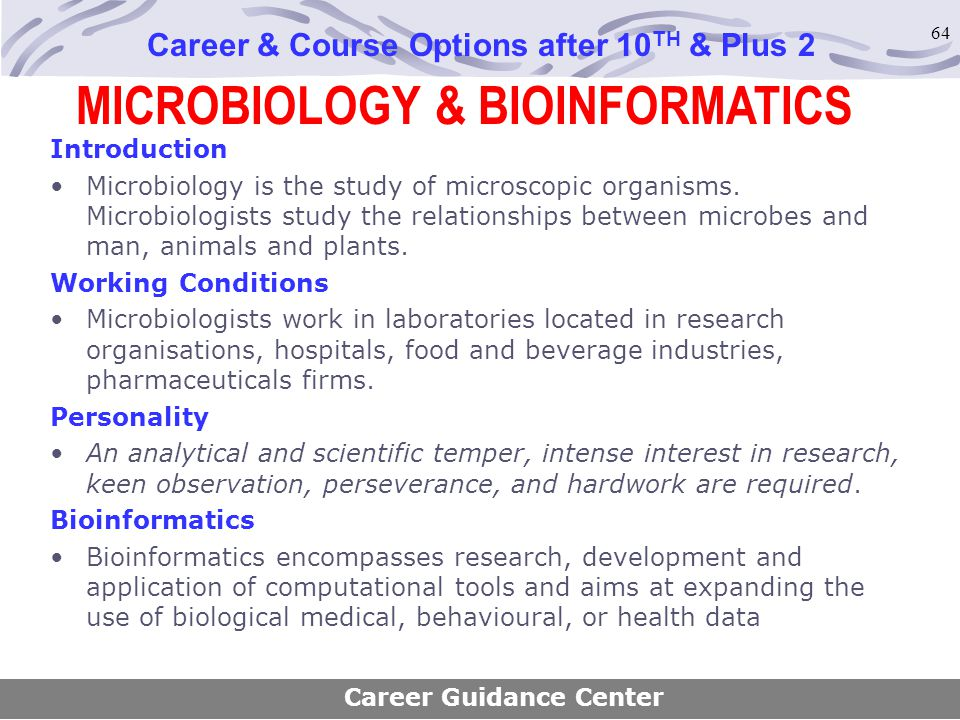 MICROBIOLOGY & BIOINFORMATICS