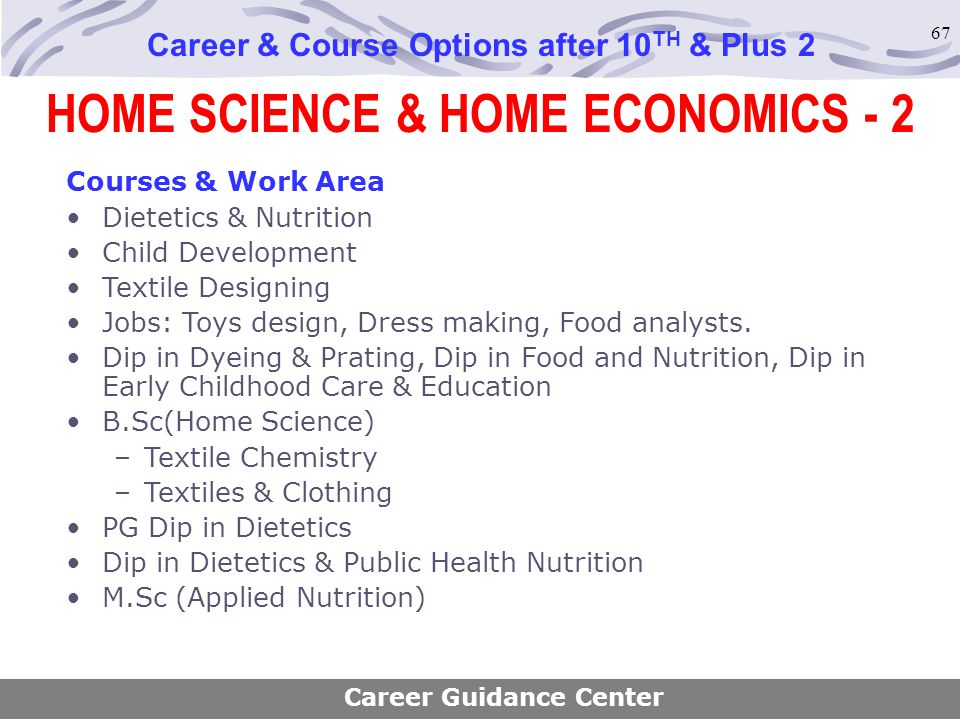 HOME SCIENCE & HOME ECONOMICS - 2