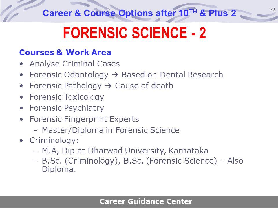 a career analysis criminology and forensic pathology