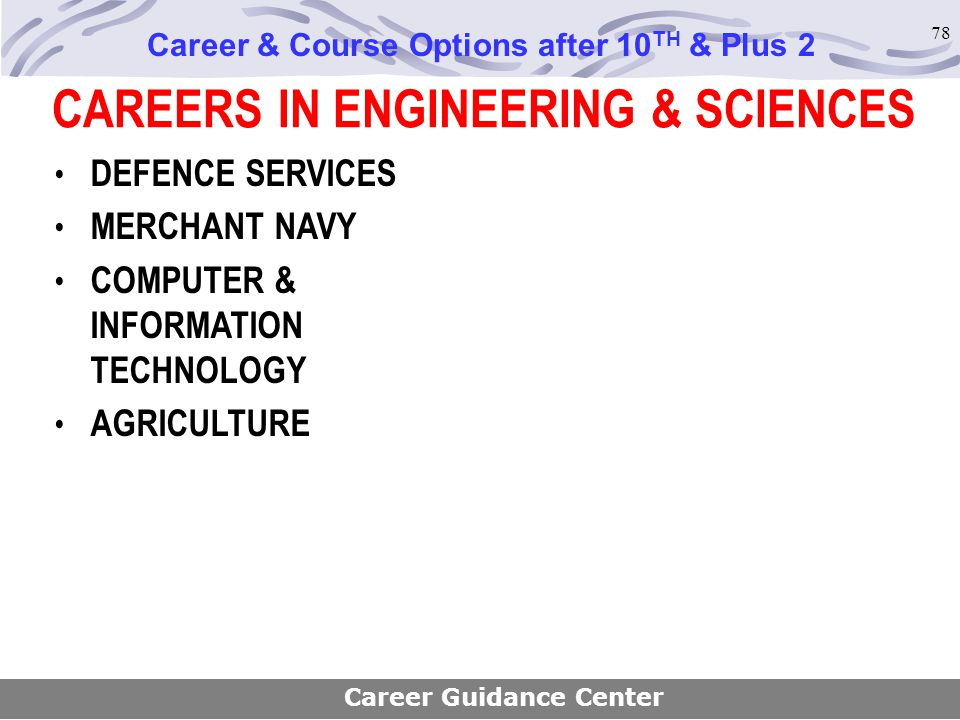 CAREERS IN ENGINEERING & SCIENCES