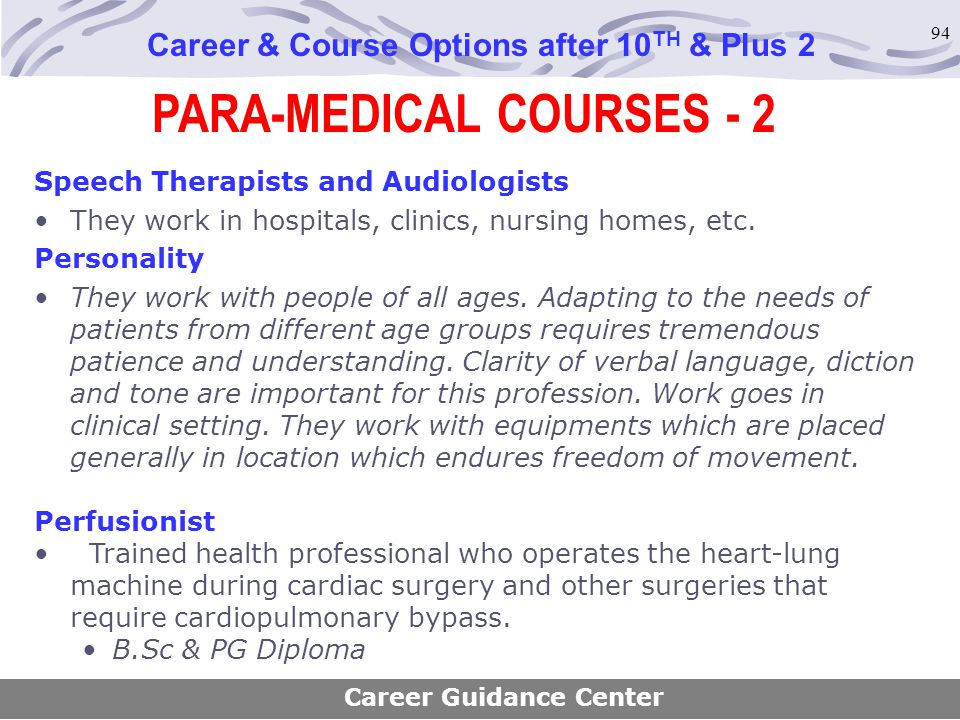 PARA-MEDICAL COURSES - 2