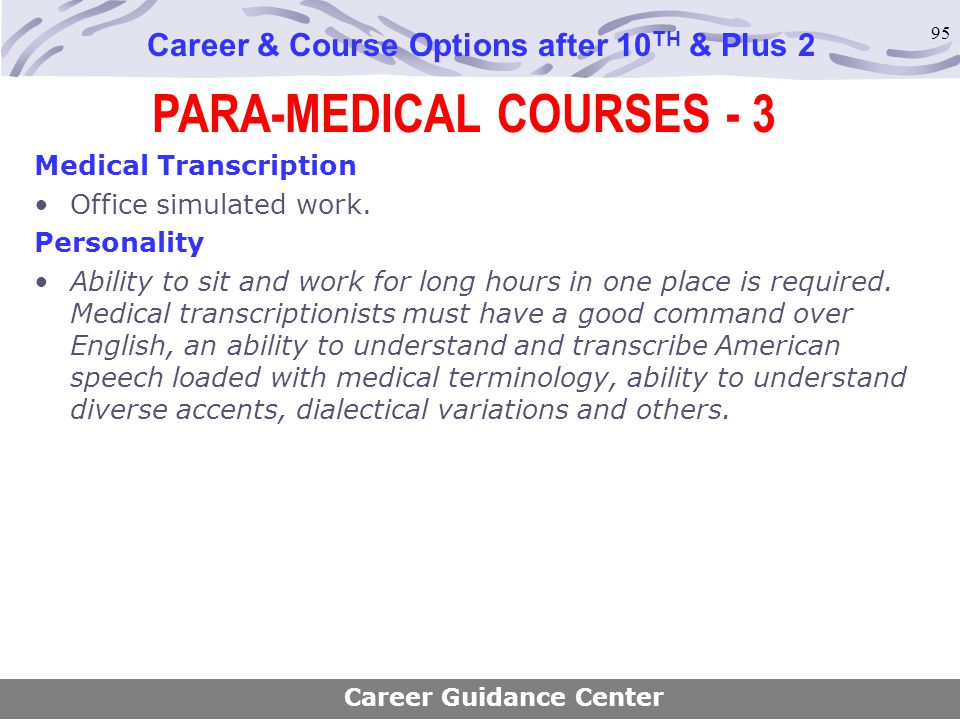 PARA-MEDICAL COURSES - 3