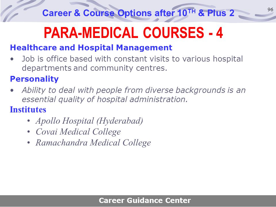 PARA-MEDICAL COURSES - 4