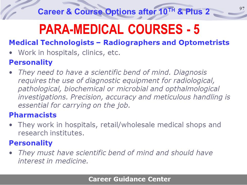 PARA-MEDICAL COURSES - 5