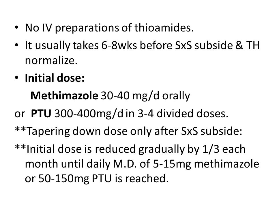 No IV preparations of thioamides.