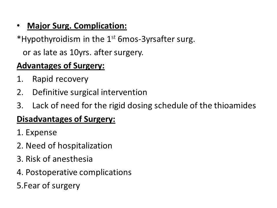 Major Surg. Complication: