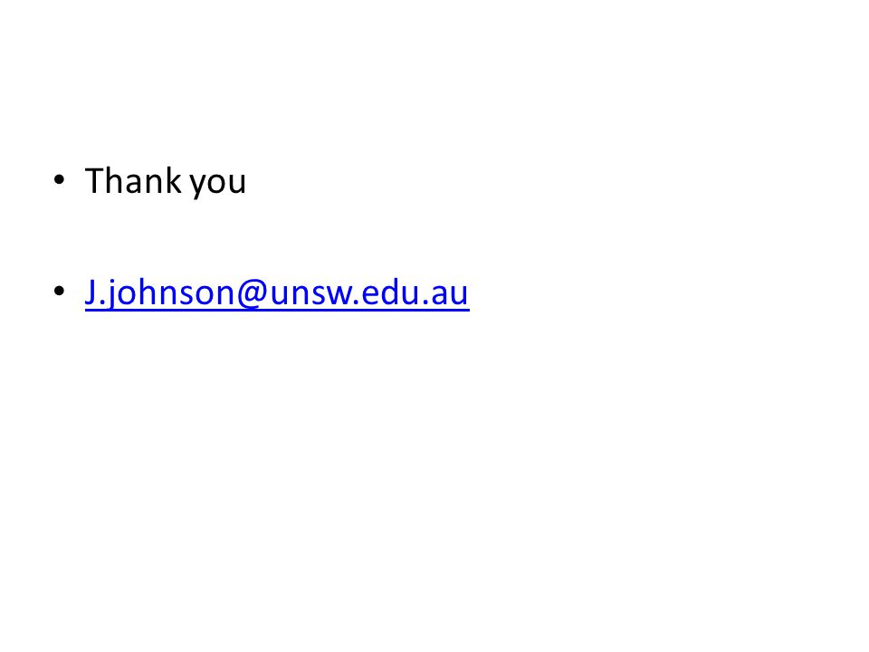 Thank you J.johnson@unsw.edu.au