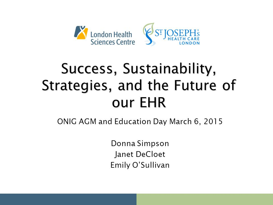 Success, Sustainability, Strategies, and the Future of our EHR