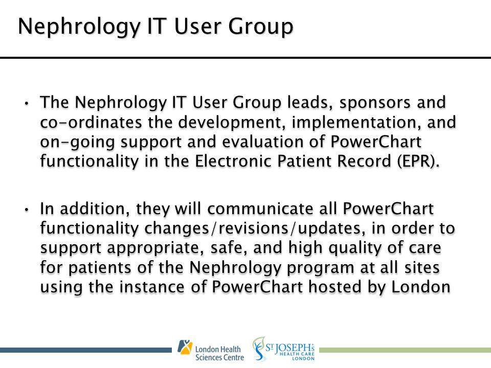 Nephrology IT User Group