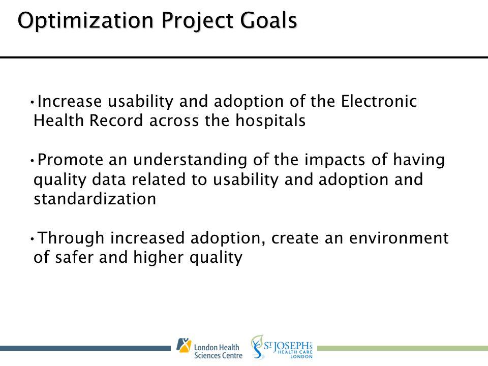 Optimization Project Goals