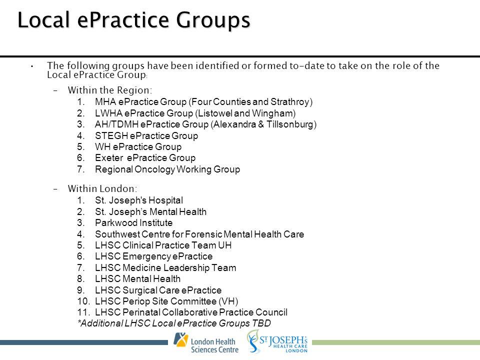 Local ePractice Groups