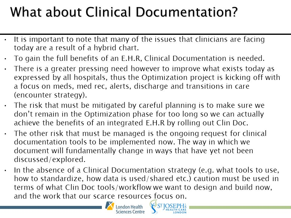 What about Clinical Documentation