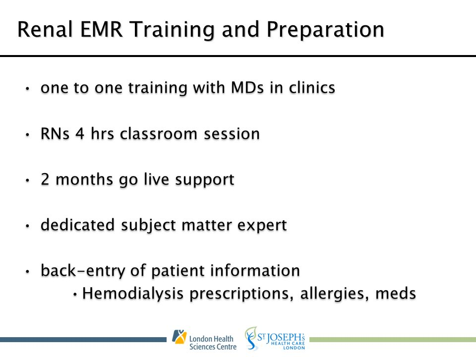 Renal EMR Training and Preparation