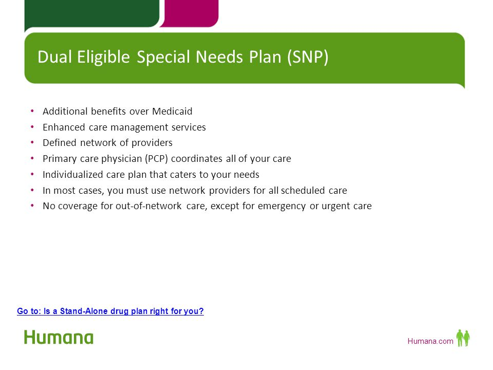 Dual Eligible Special Needs Plan (SNP)