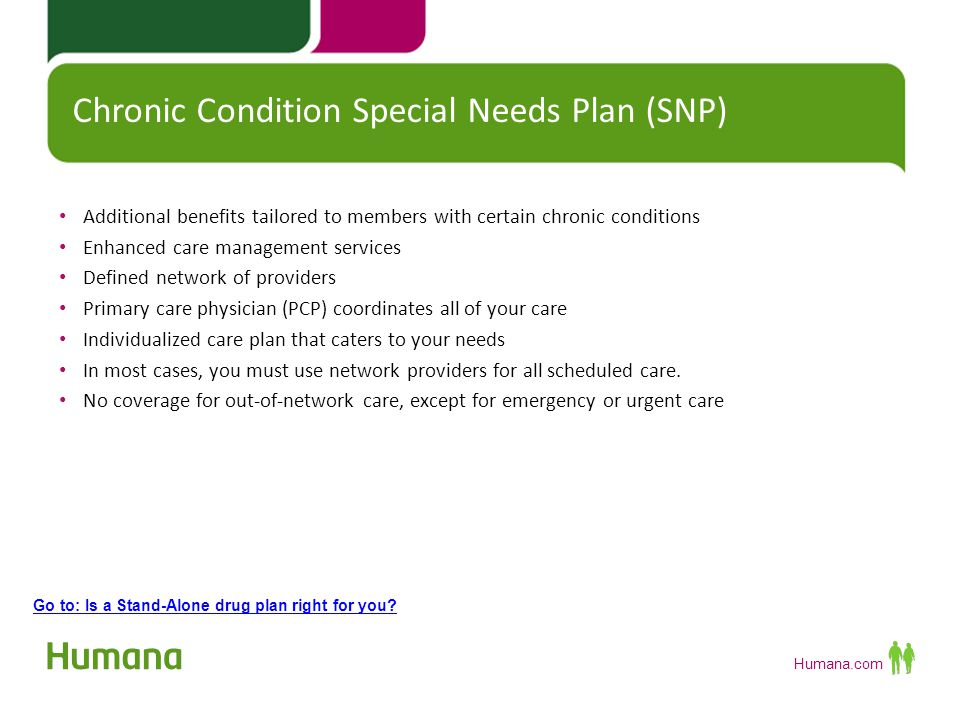 Chronic Condition Special Needs Plan (SNP)