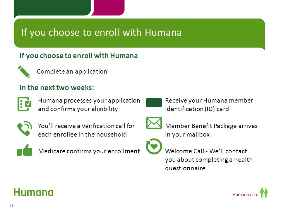 If you choose to enroll with Humana