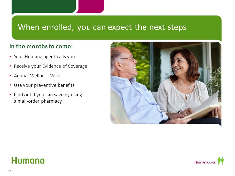 When enrolled, you can expect the next steps