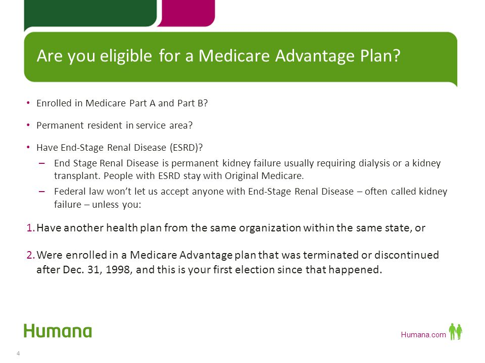 Are you eligible for a Medicare Advantage Plan