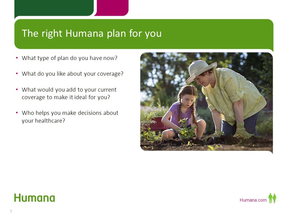 The right Humana plan for you