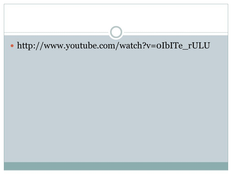 http://www.youtube.com/watch v=0IbITe_rULU