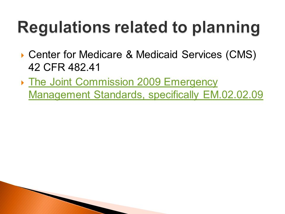 Regulations related to planning