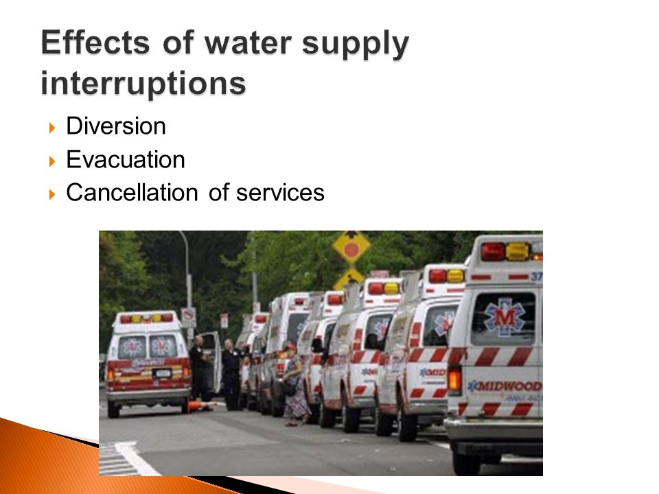 Effects of water supply interruptions