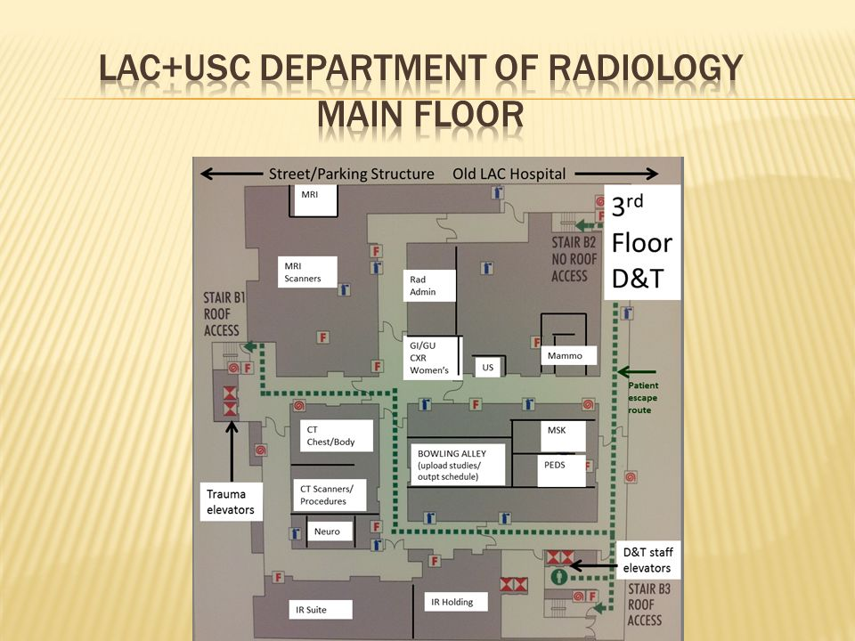 LAC+USC Department of Radiology Main Floor