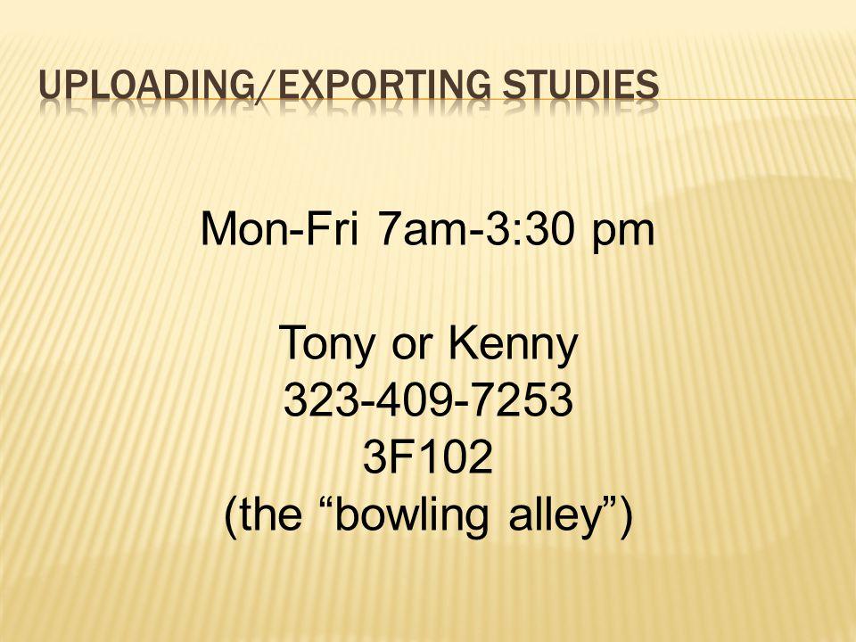 Uploading/Exporting Studies