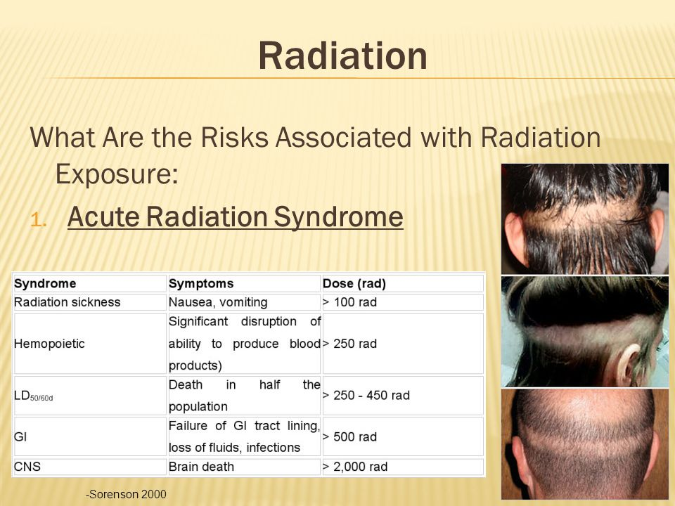 Radiation What Are the Risks Associated with Radiation Exposure: