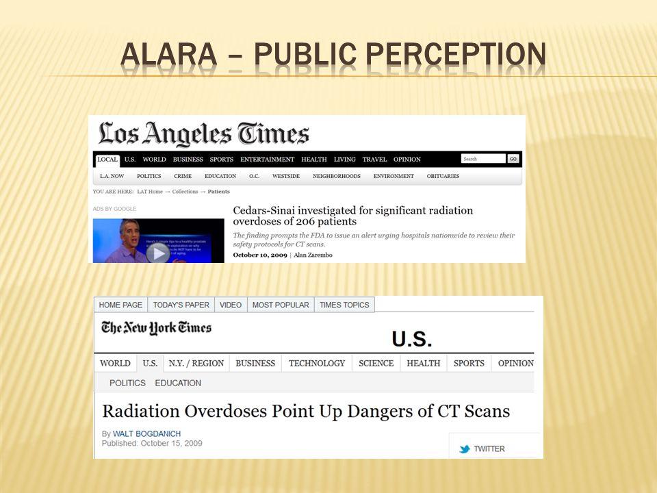 ALARA – Public Perception