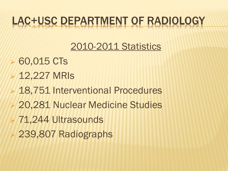 LAC+USC Department of Radiology