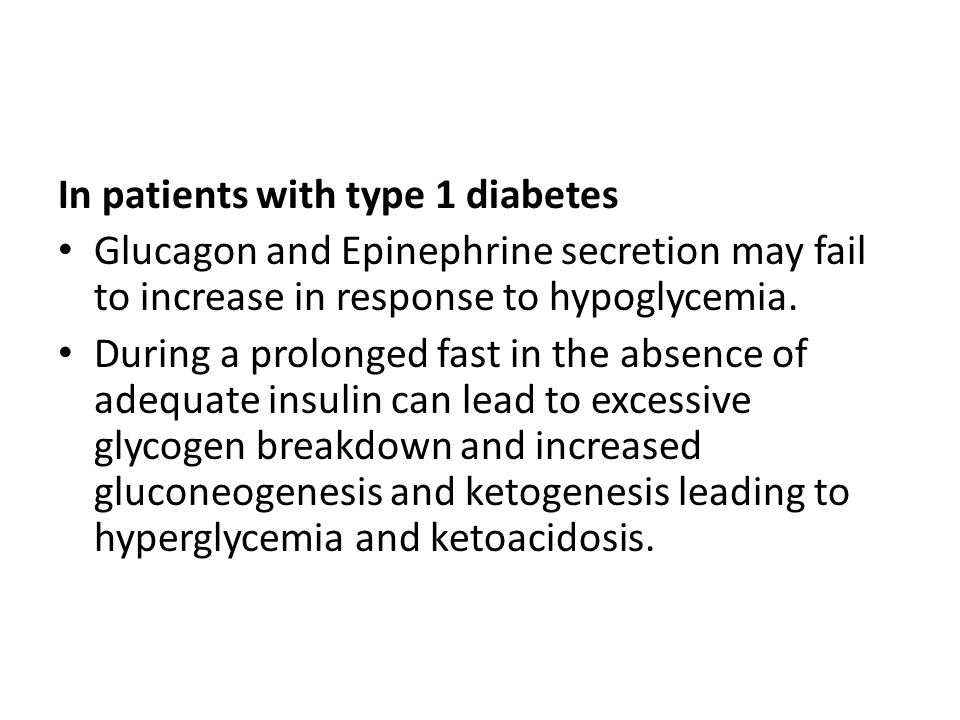 In patients with type 1 diabetes