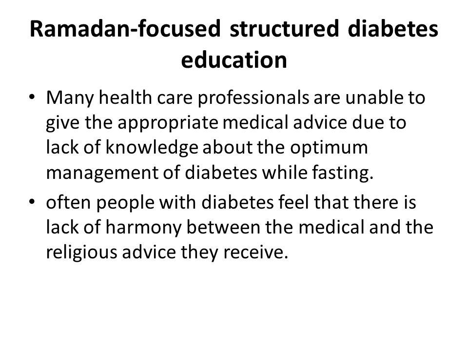 Ramadan-focused structured diabetes education