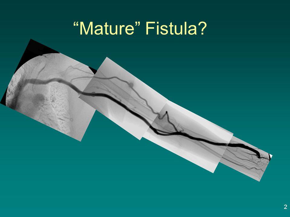 Mature Fistula
