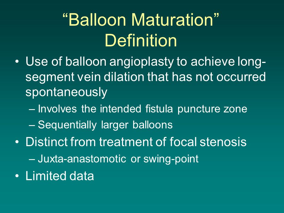 Balloon Maturation Definition