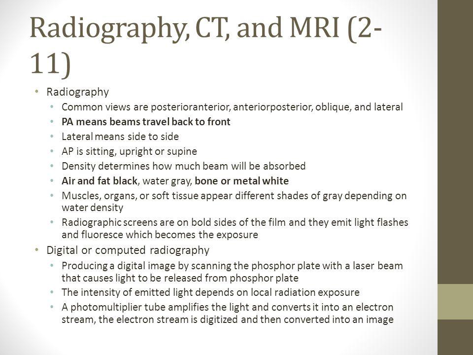 Radiography, CT, and MRI (2-11)