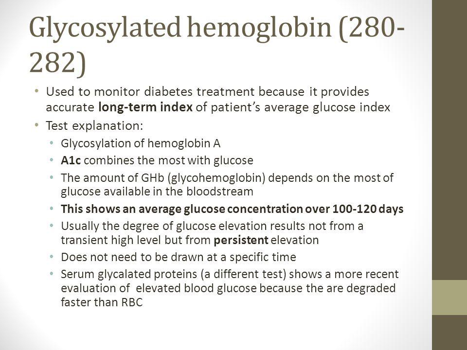Glycosylated hemoglobin (280-282)