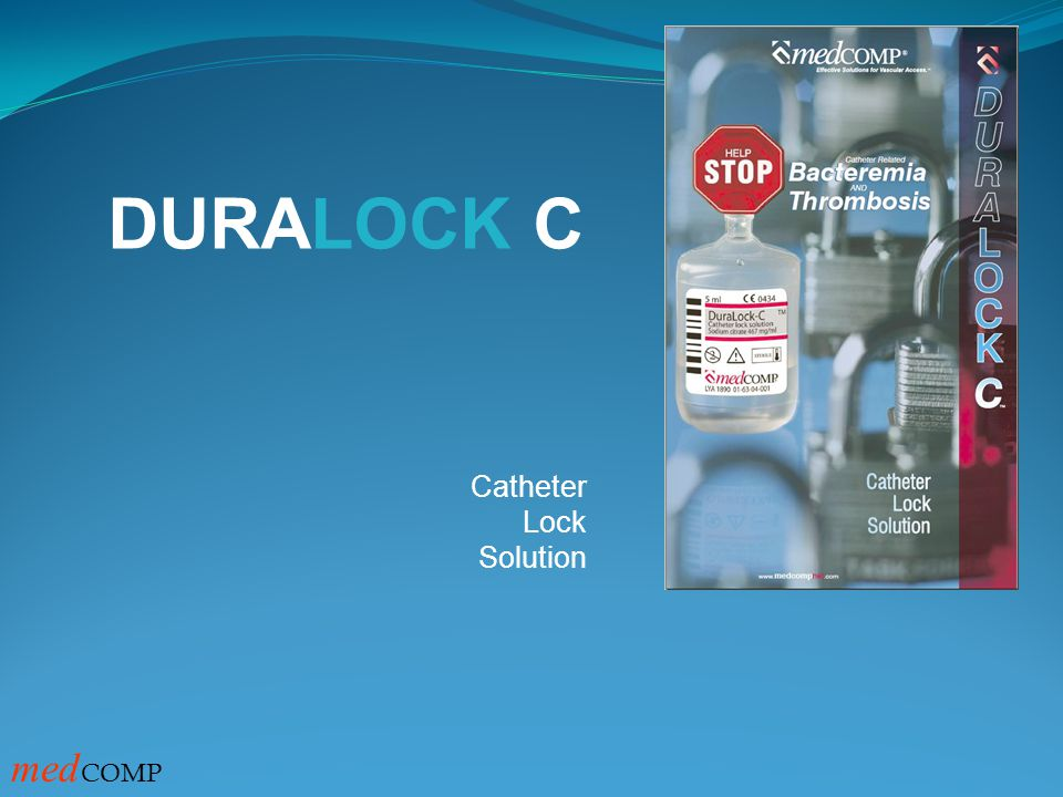 DURALOCK C Catheter Lock Solution medCOMP