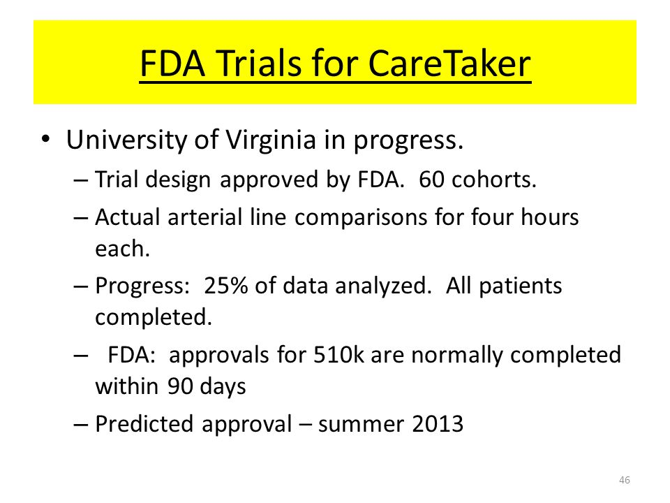 FDA Trials for CareTaker