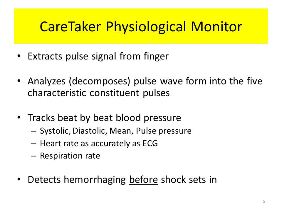 CareTaker Physiological Monitor