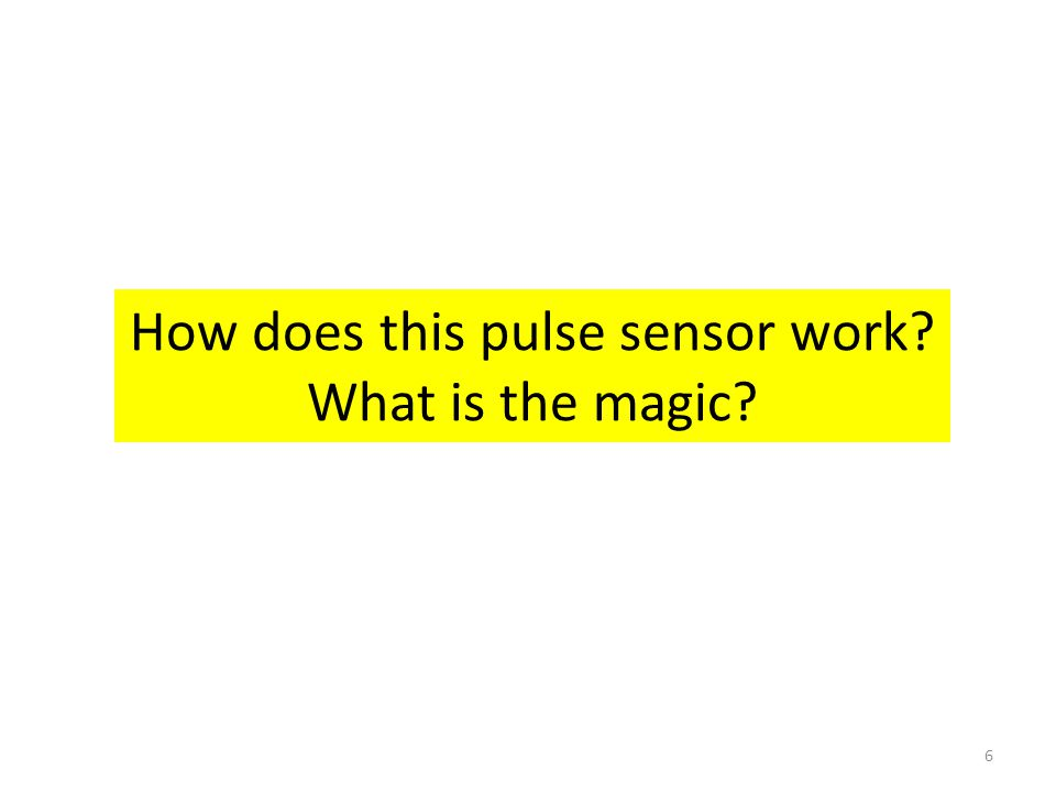 How does this pulse sensor work