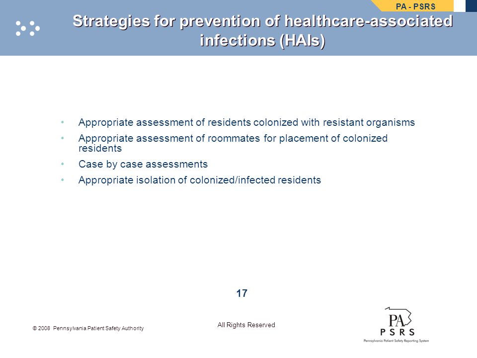 Strategies for prevention of healthcare-associated infections (HAIs)