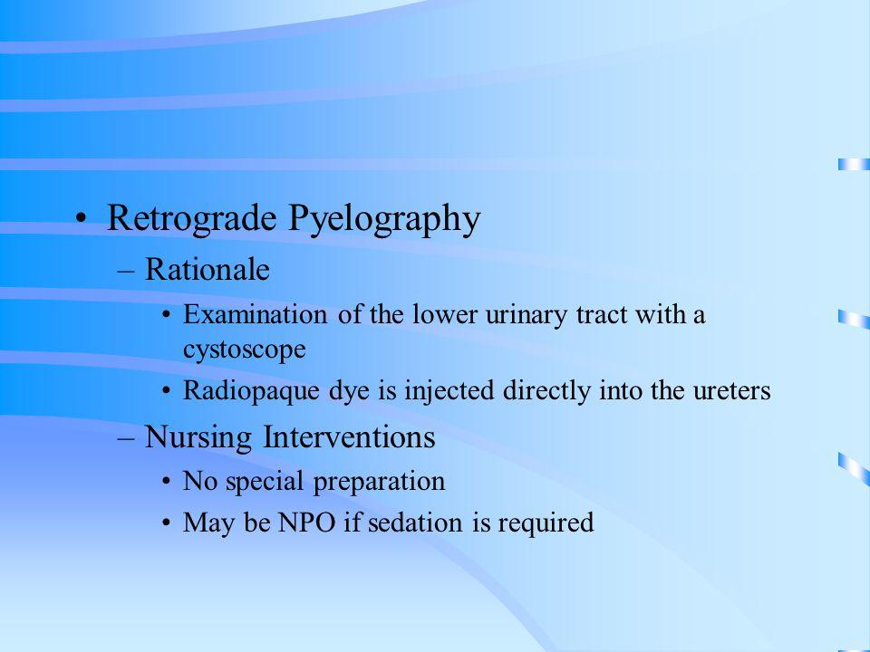 Retrograde Pyelography