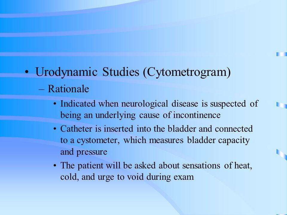 Urodynamic Studies (Cytometrogram)