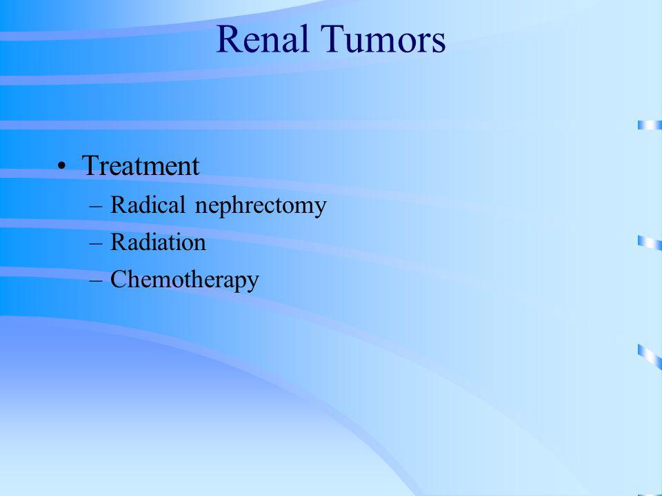 Renal Tumors Treatment Radical nephrectomy Radiation Chemotherapy